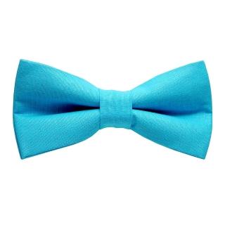 Однотонная голубая хлопковая бабочка
