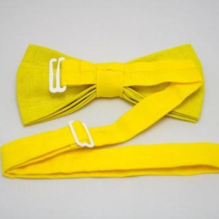 Купить желтую галстук-бабочку из хлопка