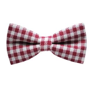 Красно-белая клетчатая галстук-бабочка