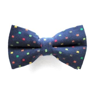 Темно-синяя галстук бабочка с вкраплениями