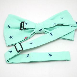 Заказать бирюзовую галстук-бабочку с принтом