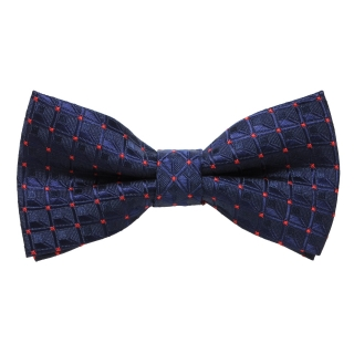 Синий галстук бабочка в точку