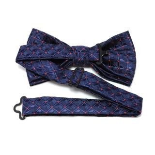 Купить галстук бабочку синего цвета в точку
