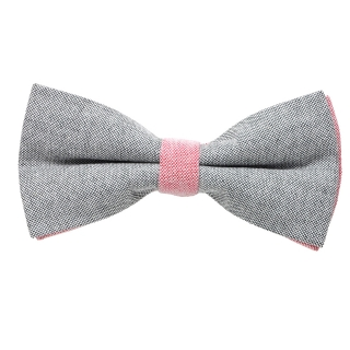 Серо-розовая галстук-бабочка