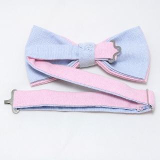 Хлопковая бабочка розово-голубого цвета