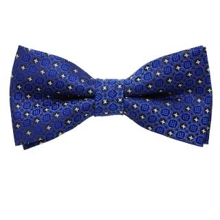 Синяя узорчатая галстук бабочка