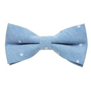 Галстук-бабочка из хлопка голубого цвета