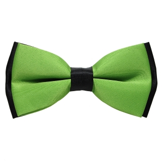 Зелено-черная галстук-бабочка