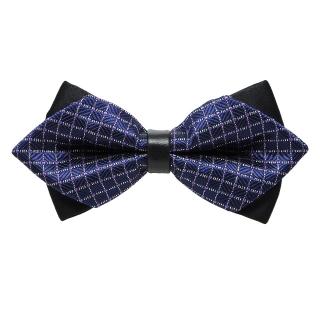 Синяя треугольная галстук-бабочка