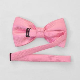 Розовая галстук бабочка на застежке