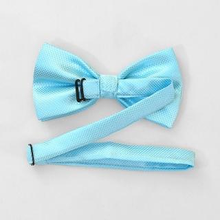 Аквамариновый галстук бабочка на застежке