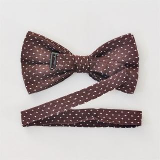 Коричневая галстук бабочка на застежке
