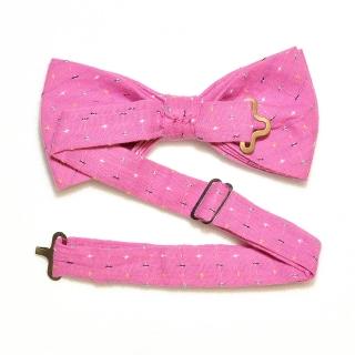 Купить галстук бабочку розового цвета хлопок