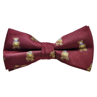 Купить бордовую галстук-бабочку с мишками