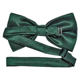 Купить фактурную зеленую галстук бабочку