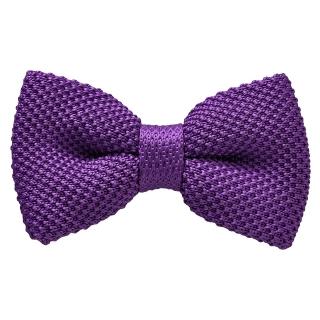 Вязаная сиреневая галстук бабочка
