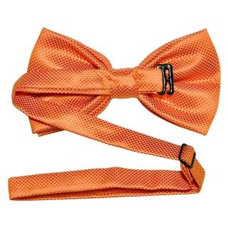 Ярко-оранжевая фактурная галстук-бабочка