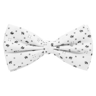 Белая галстук бабочка с принтом