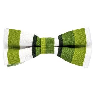 Бабочка из плотной ткани с зелеными полосами