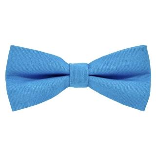 Однотонная синяя галстук бабочка