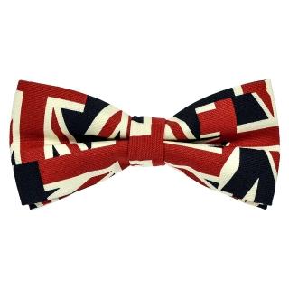 Галстук бабочка с британским флагом