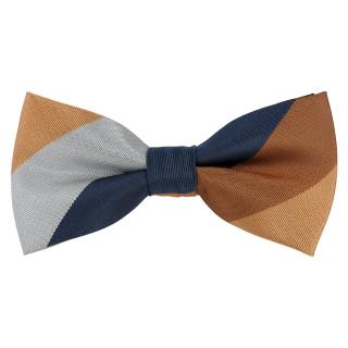 Полосатый цветной галстук-бабочка