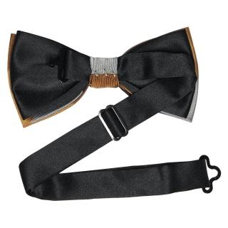 Купить коричневый полосатый галстук-бабочку