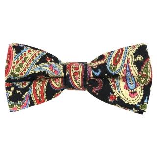 Купить черный галстук-бабочку с огуречным узором