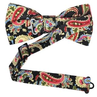 Черный галстук-бабочка с принтом