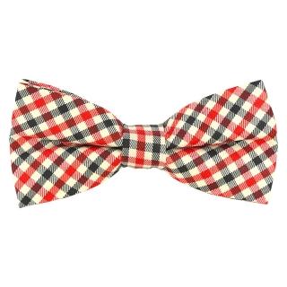 Купить клетчатый галстук-бабочку красную