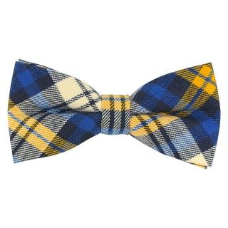 Купить клетчатый синий галстук-бабочку