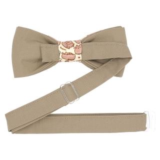 Купить бежевую галстук-бабочку с котами
