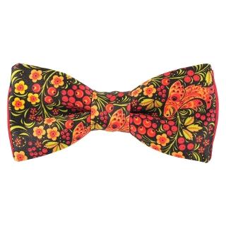 Купить дизайнерский галстук-бабочку под хохлому