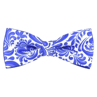 Купить галстук-бабочку с росписью гжель