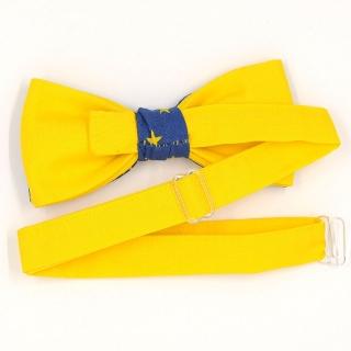 Синяя бабочка с желтыми звездами