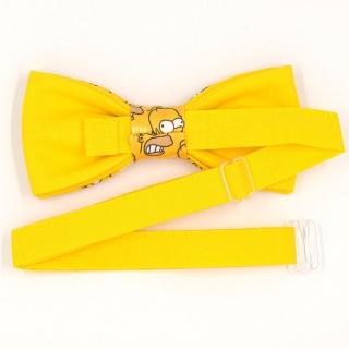 Желтая бабочка Симпсоны ручной работы