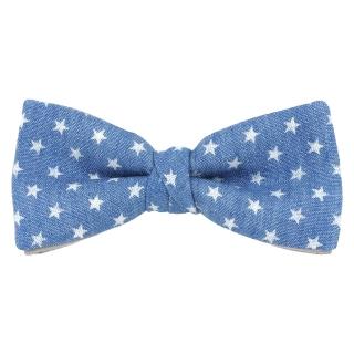 Купить звездный галстук-бабочку из хлопка