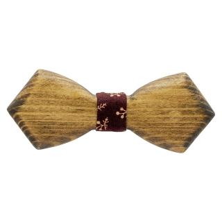 Деревянная бабочка темный треугольник