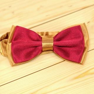 Недорогая мужская галстук-бабочка бордовая