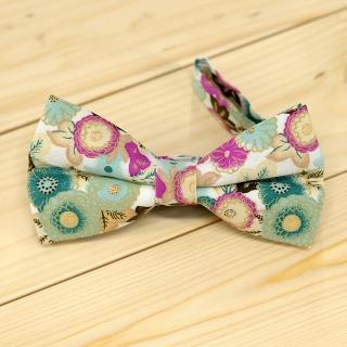 Недорогая цветочная галстук-бабочка на застежке