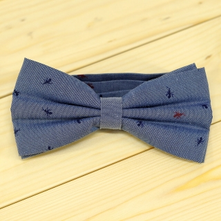 Недорогая стильная галстук-бабочка на застежке с вставками в виде муравья