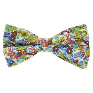 Купить цветочную стильную галстук-бабочку с цветными вставками