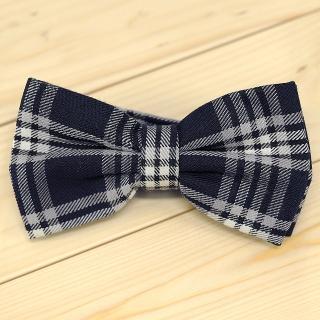 Недорогая модная стильная клетчатая галстук-бабочка из плотной хлопковой ткани