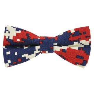 Купить модную галстук-бабочку камуфляжного цвета из плотной хлопковой ткани