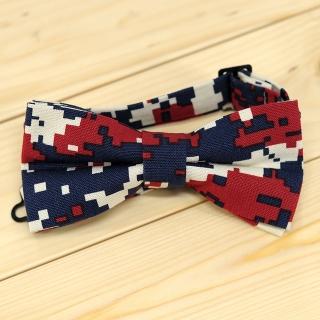 Недорогая модная галстук-бабочка камуфляжного цвета из плотной хлопковой ткани