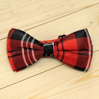 Недорогая модная клетчатая галстук-бабочка из плотной хлопковой ткани