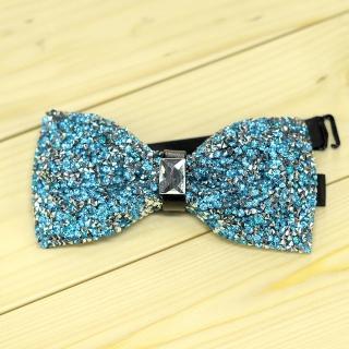 Недорогая модная галстук-бабочка из плотной хлопковой ткани с узором в виде кристаллов