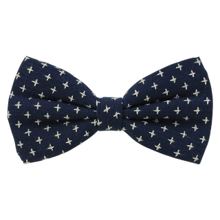 Купить модную галстук-бабочку черного цвета из плотной хлопковой ткани