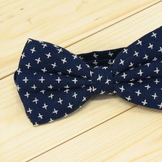 Недорогая модная галстук-бабочка черного цвета из плотной хлопковой ткани