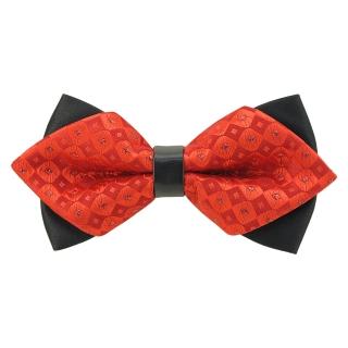 Купить модную галстук-бабочку красного цвета из плотной хлопковой ткани